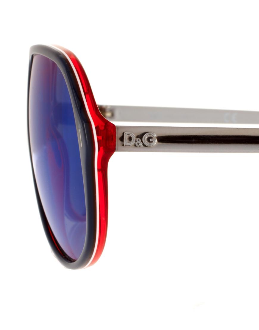D G Mirrored Sunglasses  dolce gabbana dg mirrored aviator sunglasses in blue for men lyst