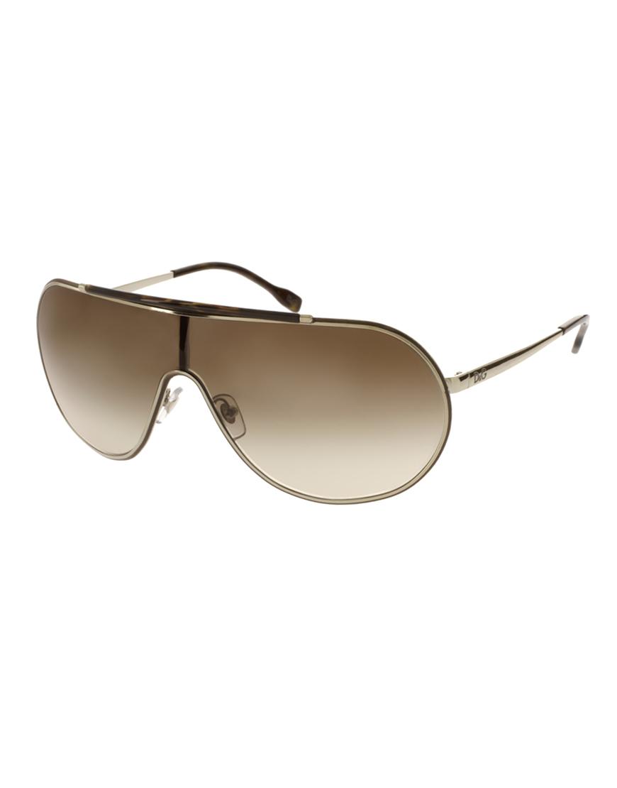1bdd9db4870 Dolce   Gabbana Dg Visor Sunglasses in Brown for Men