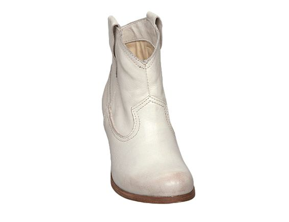 Dune Pickett D Ankle Western Boots in White (Natural)