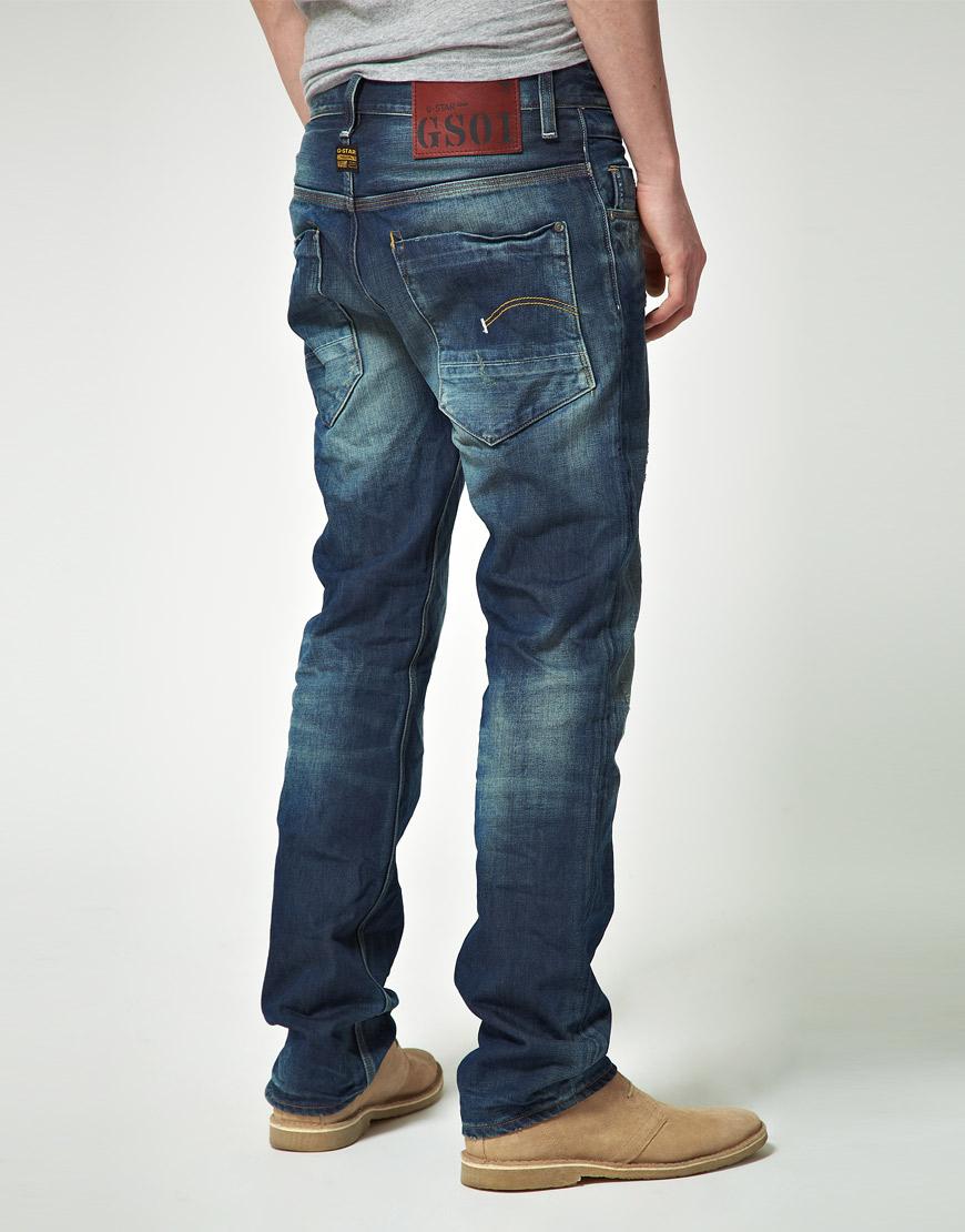 lyst g star raw g star new radar tapered jeans in blue for men. Black Bedroom Furniture Sets. Home Design Ideas