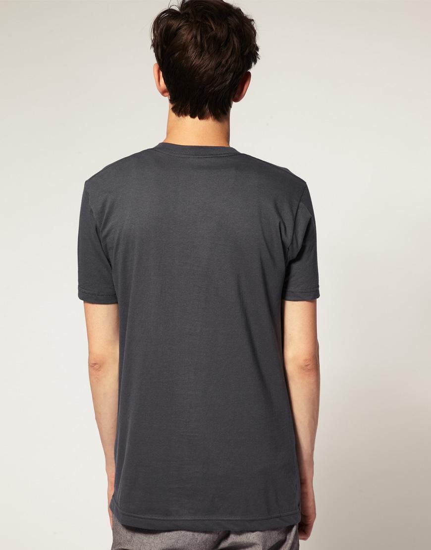 American apparel fine jersey tshirt in gray for men for American apparel fine jersey crewneck t shirt