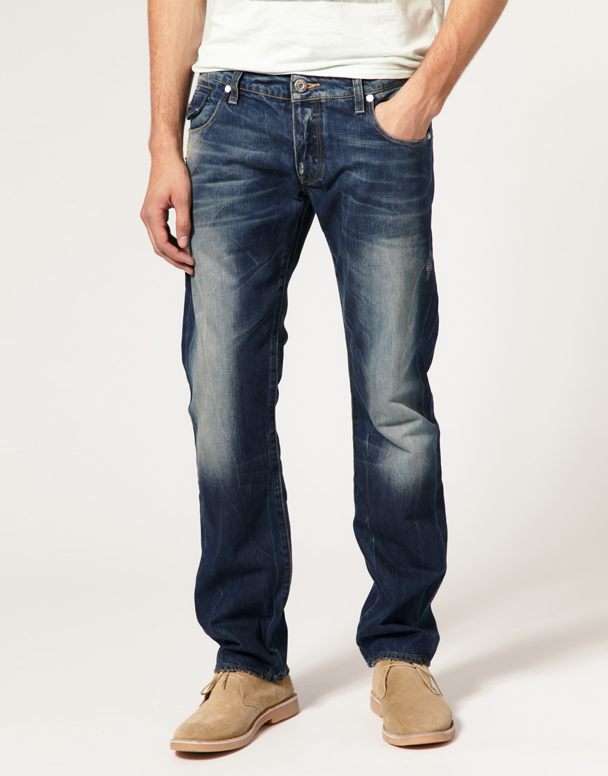 g star raw g star morris low straight rugby wash jeans in. Black Bedroom Furniture Sets. Home Design Ideas