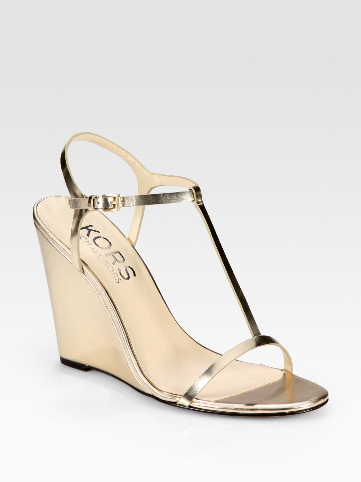 Metallic Wedge Heels