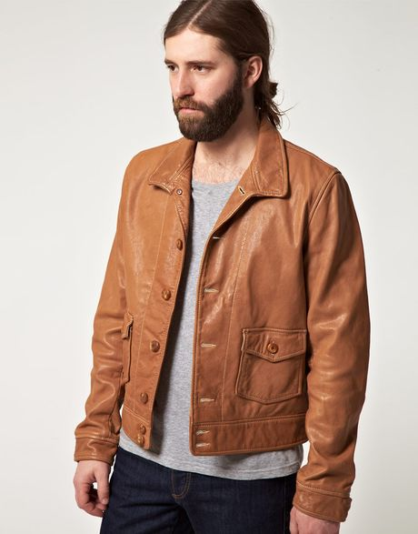 Levi's Levis Vintage S Medlow Leather Jacket in Brown for Men (tan