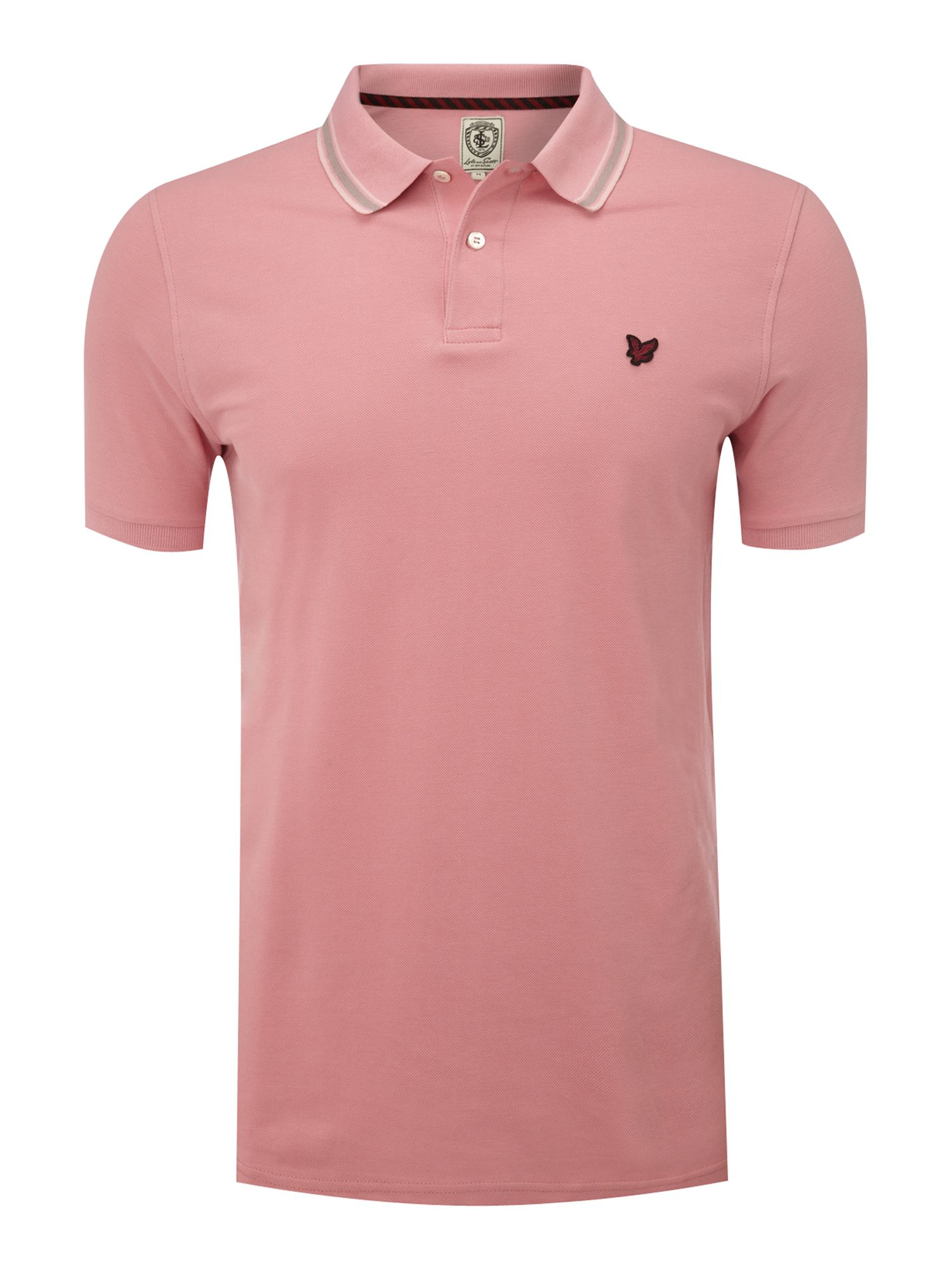 Lyle Scott Tipped Pique Polo Shirt In Pink For Men
