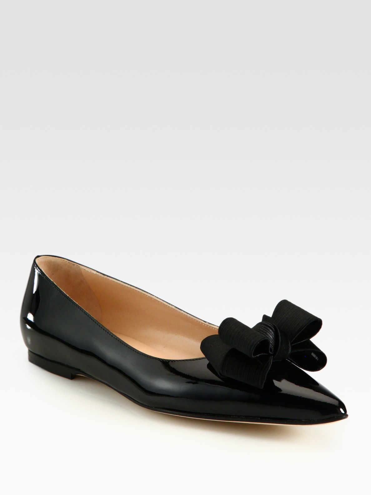 Silkblend Point Toe Bow Ballet Flats