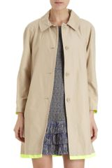 Marc By Marc Jacobs Neon Tipped Trench Coat