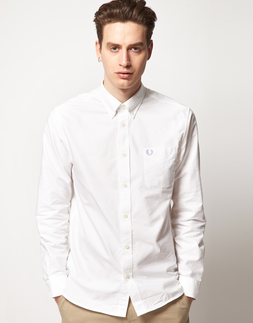 Fred Perry Fred Perry Oxford Shirt in White for Men - Lyst