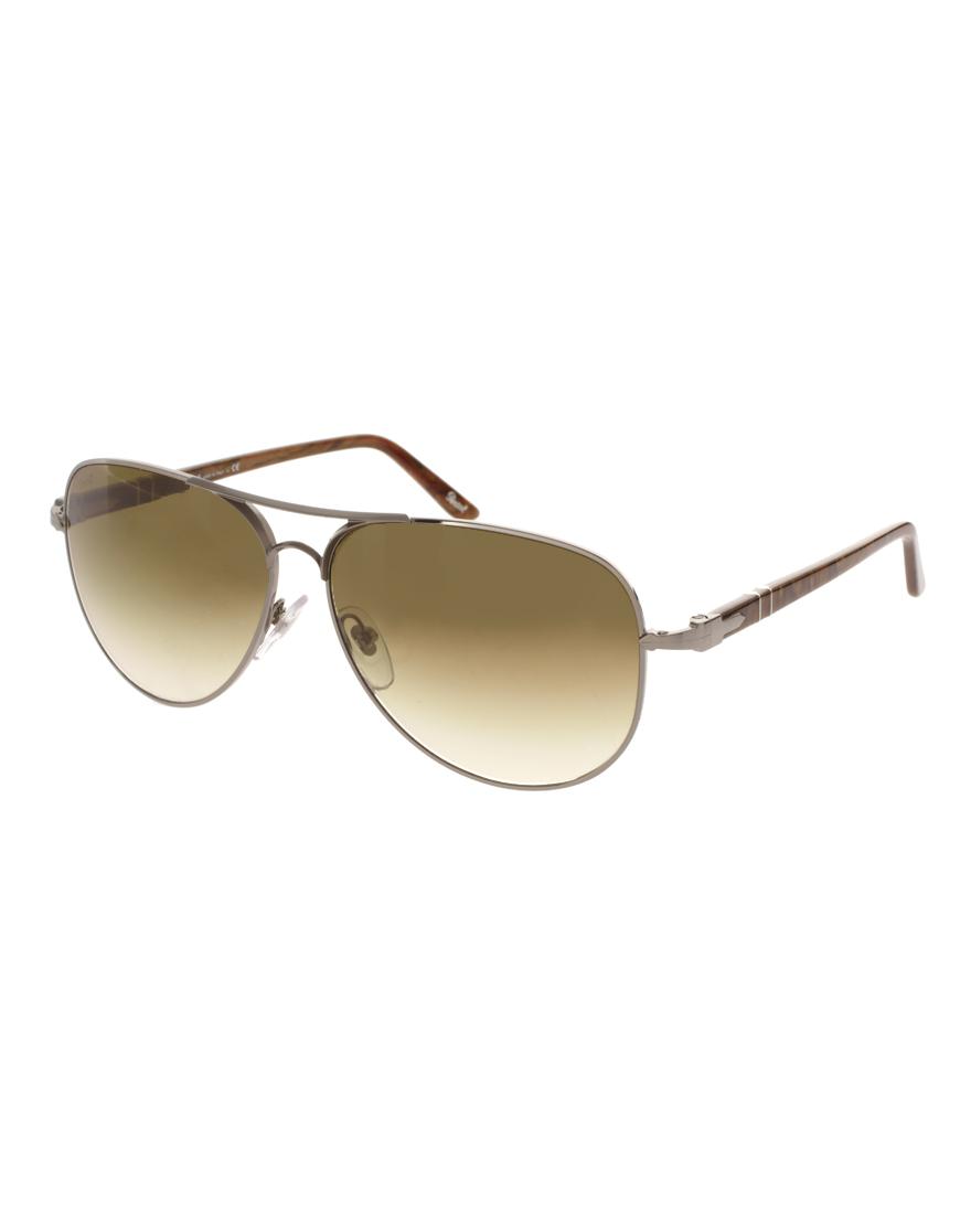 7137021c016a Persol Persol Aviator Sunglasses in Brown for Men - Lyst