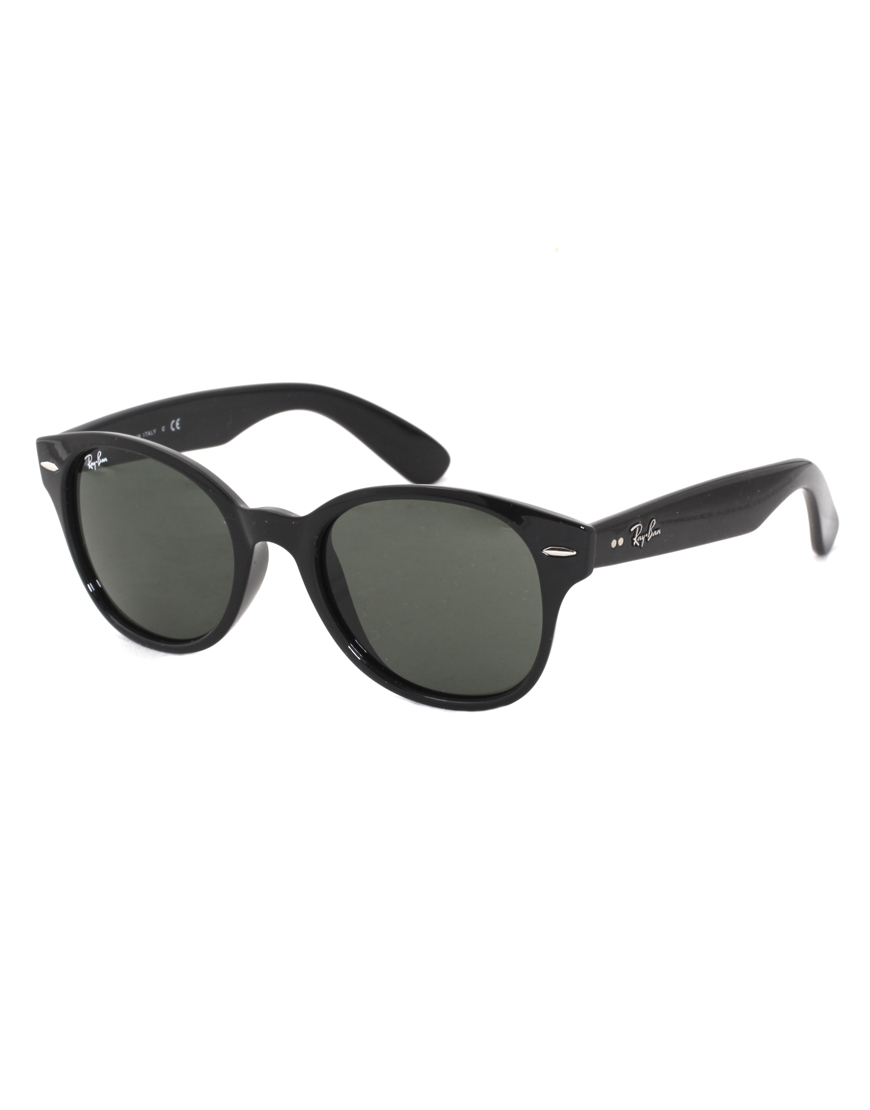 Ray Ban Rayban Round Sunglasses In Black For Men Lyst