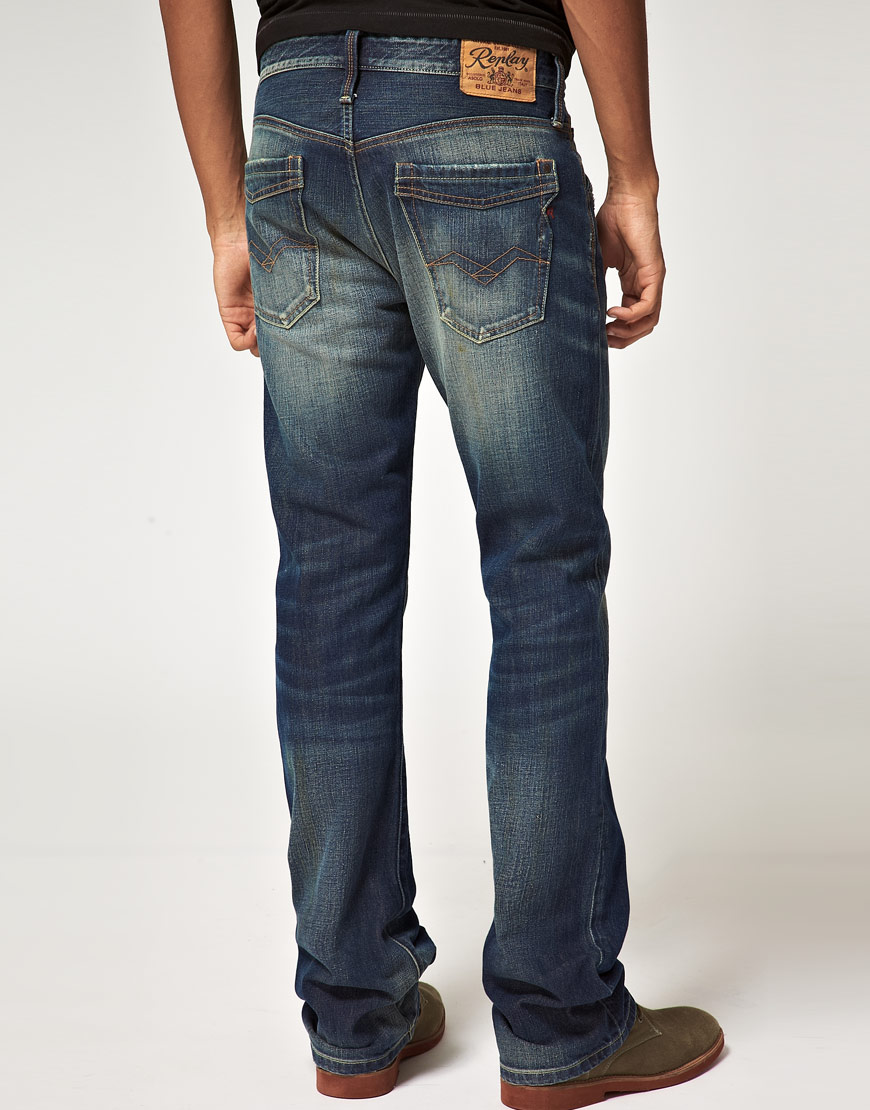 Replay Jimi Bootcut Jeans in Blue for Men   Lyst