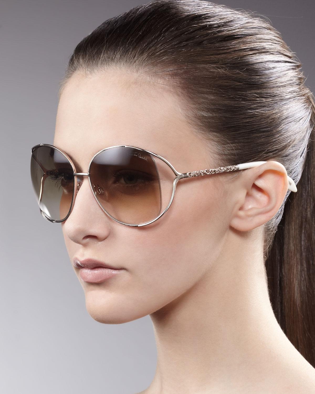 Roberto Cavalli Filigreearm Sunglasses Rose Golden In Pink