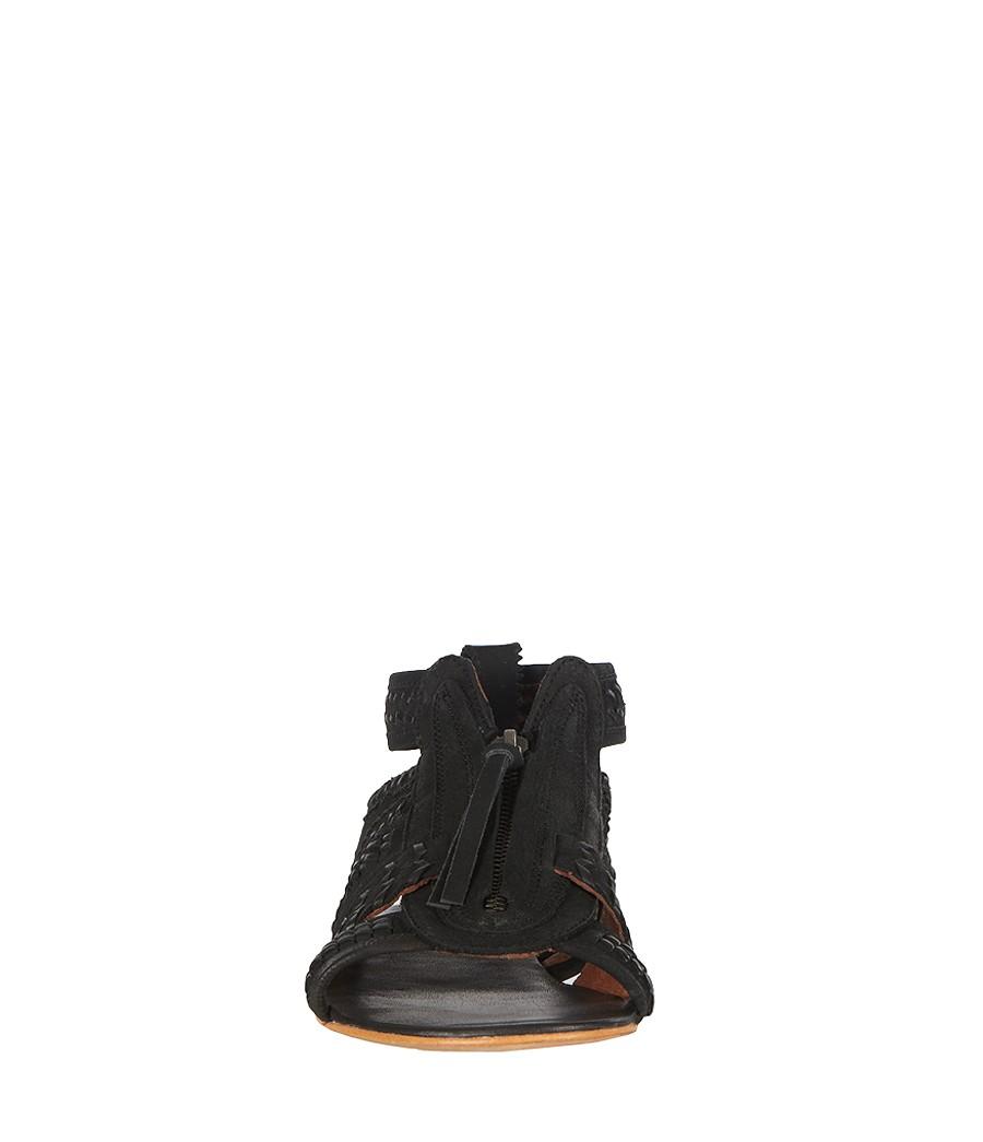 6f068b4ffdae Lyst - AllSaints Braid Gladiator Sandal in Black
