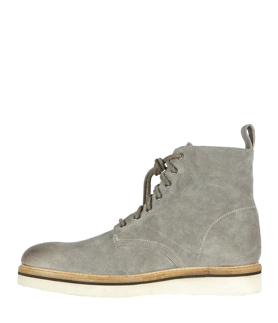 Allsaints Lot Boot In Steel Gray For Men Lyst