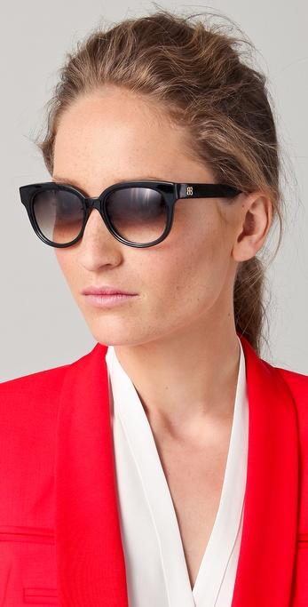 0abaadd8ce0 Balenciaga Small Cat Eye Sunglasses in Black - Lyst