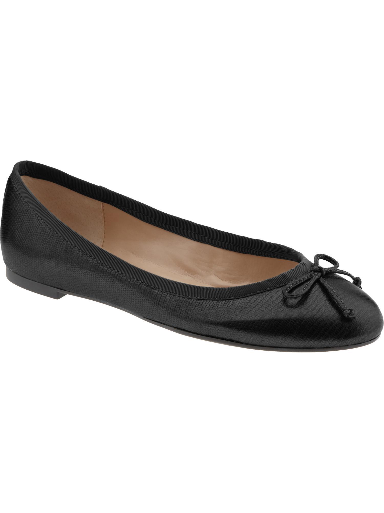 Banana Republic Ashley Bow Ballet Flat in Black (black ...
