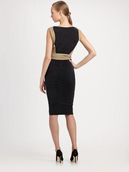 Donna Karan New York Bicolor Dress in Black (coal)   Lyst