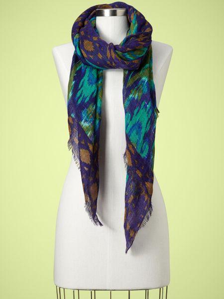 gap peacock print scarf in multicolor peacock lyst