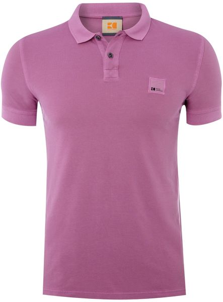 Hugo Boss Patch Logo Polo Shirt in Purple for Men