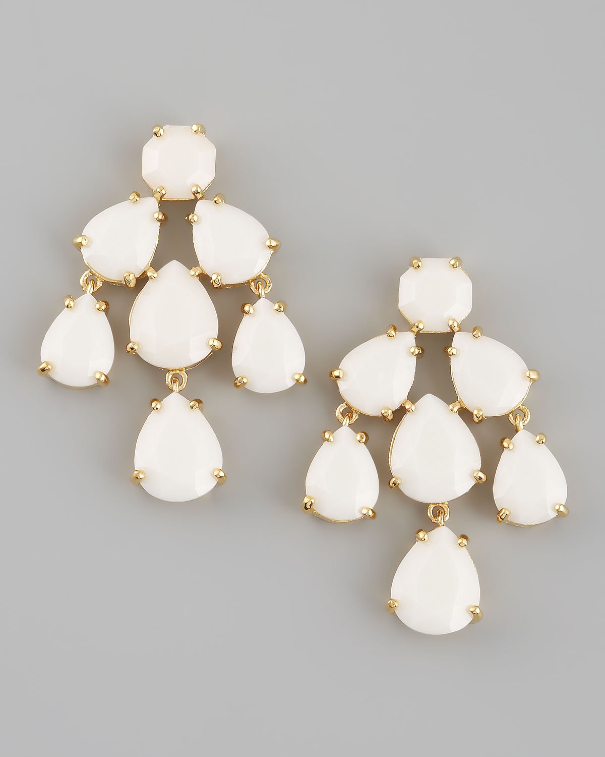 Kate spade new york Chandelier Earrings in White | Lyst