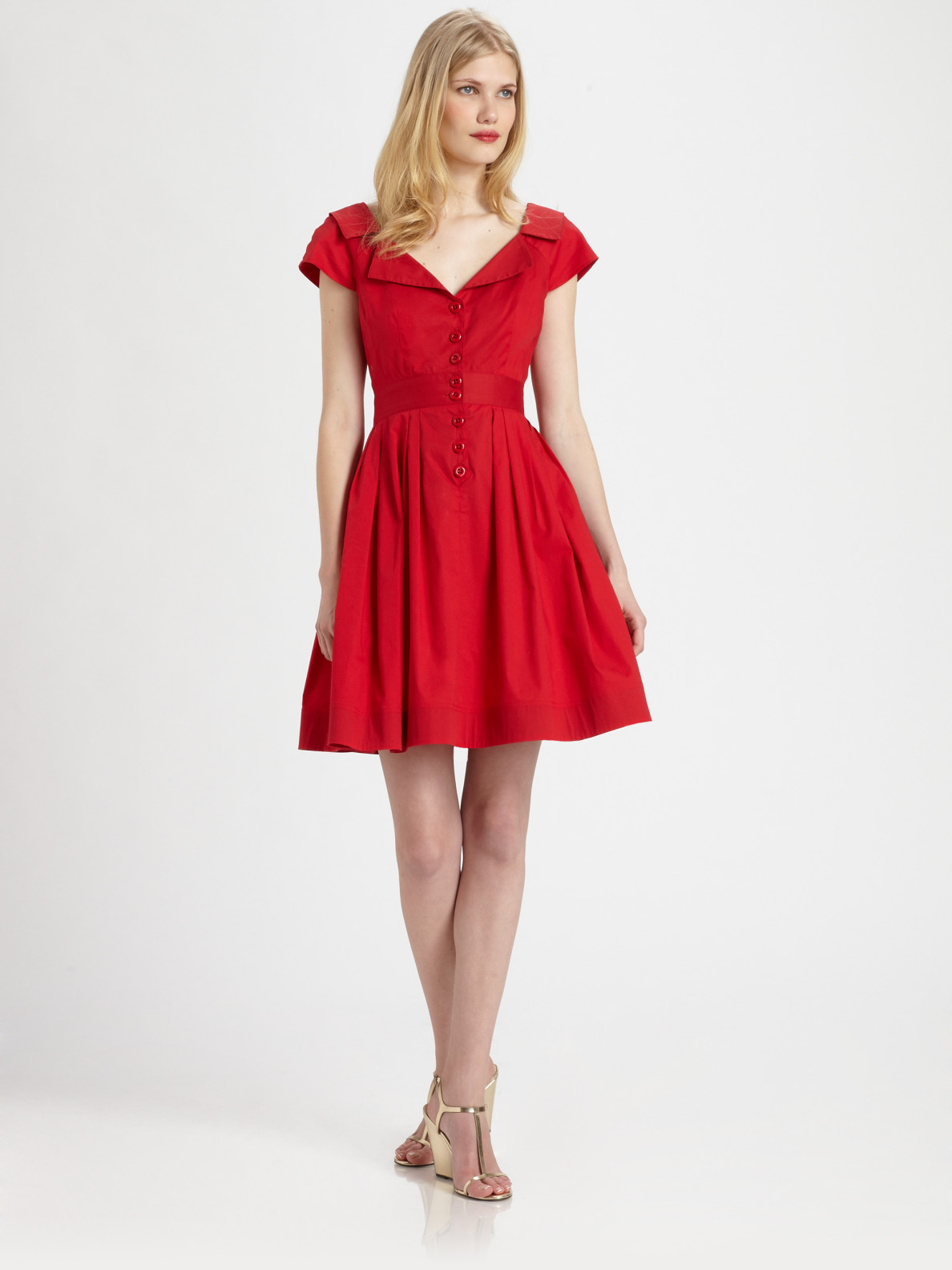 Nanette lepore San Fernando Dress in Red | Lyst