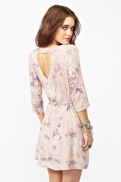 Nasty Gal Dreamcatcher Dress In Beige Lilac Lyst