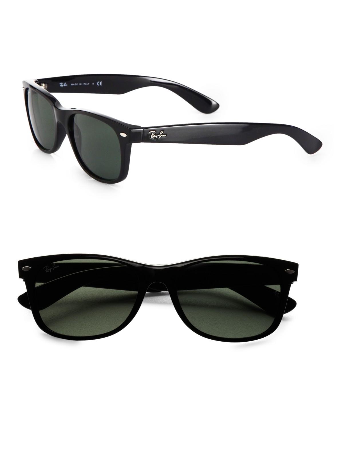 ray ban new wayfarer sunglasses in green for men black lyst. Black Bedroom Furniture Sets. Home Design Ideas