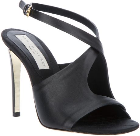 Stella Mccartney Open Toe Pump in Black - Lyst