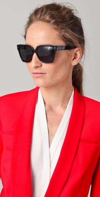 Saint Laurent Oversized Square Sunglasses In Black Lyst