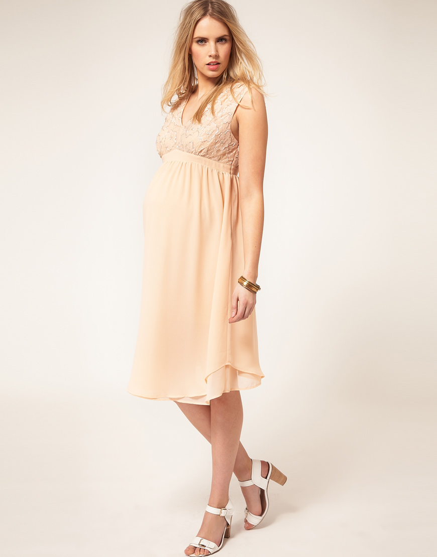 Asos asos maternity exclusive midi dress with embellished top in gallery ombrellifo Image collections