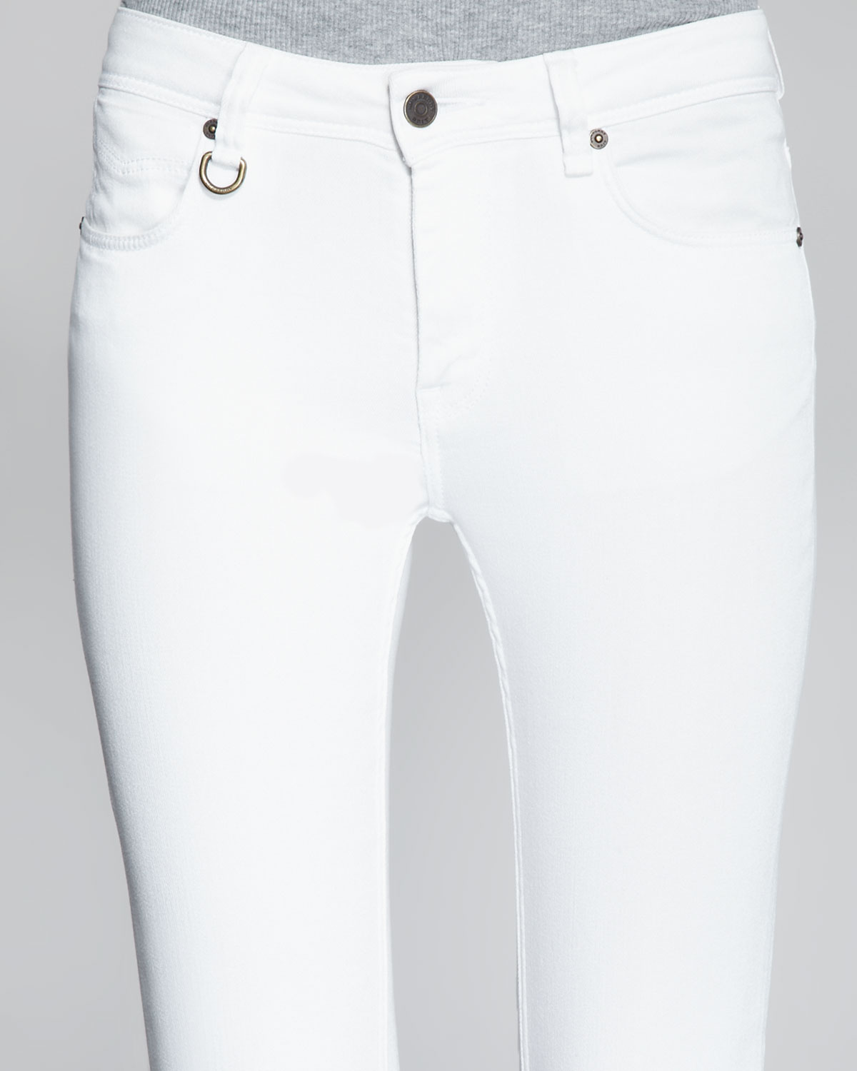 Burberry brit Bootcut White Jeans in White | Lyst