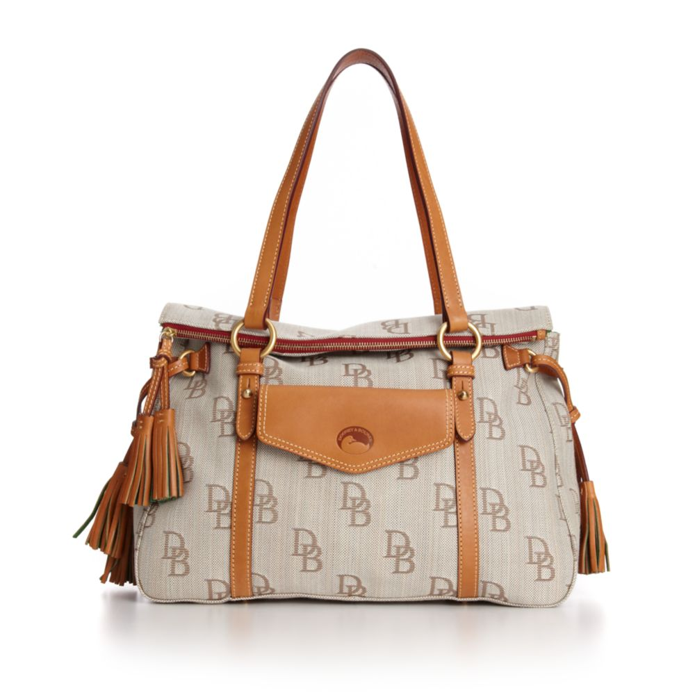 1ca904a2b1 Lyst - Dooney   Bourke Signature Jacquard Pocket Shopper in Brown