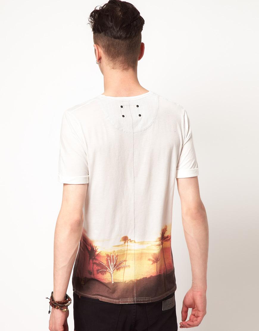 Elvis jesus elvis jesus sundown hawaii tshirt in white for for Elvis jesus t shirt