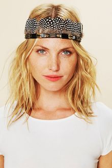Free People Jeweled Mix Feather Headdress - Lyst