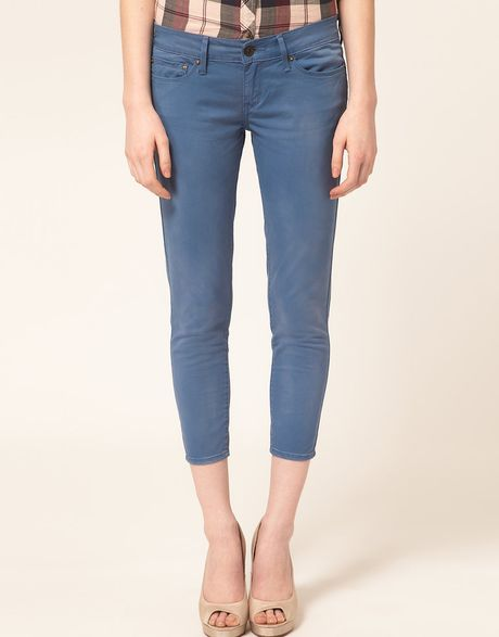 Levi's Levis Curve Id Demi Curve Ankle Skinny Jeans in Blue - Lyst