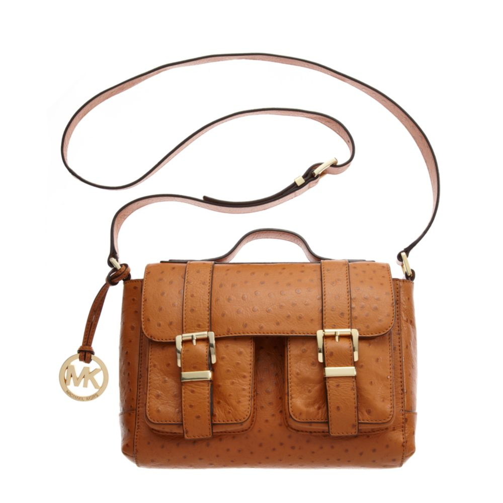 349148cf0abe ... Lyst - Michael Kors Saddle Bag School Satchel in Brown ...