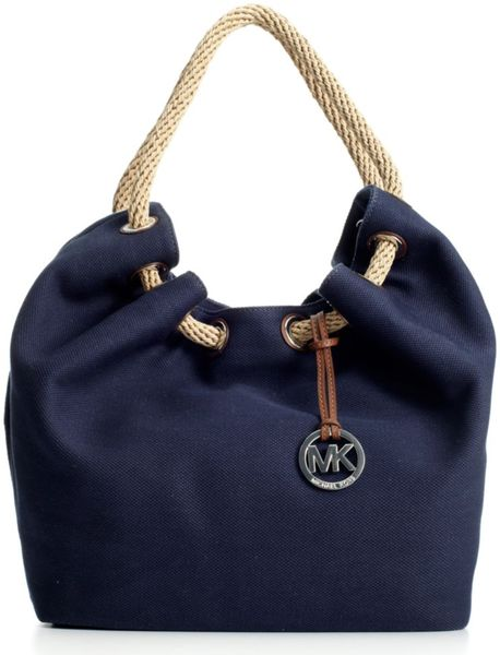 Michael Kors Marina Shoulder Tote in Blue (navy) - Lyst
