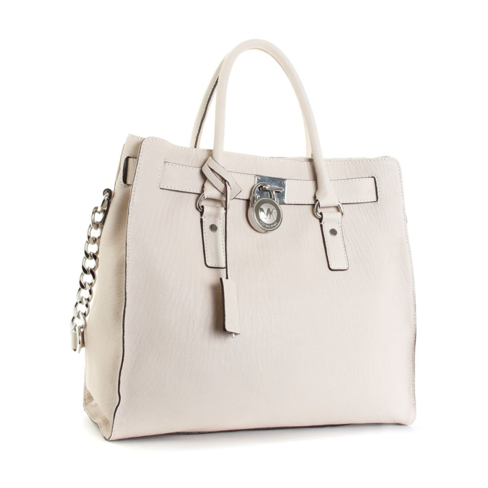 Lyst - Michael Kors Large Hamilton Chain Tote with Silver Hardware ... 3be2279227a7e