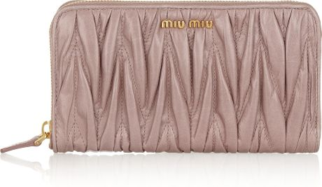 f9e464900f6 Miu Miu Pink Matelassé Wallet