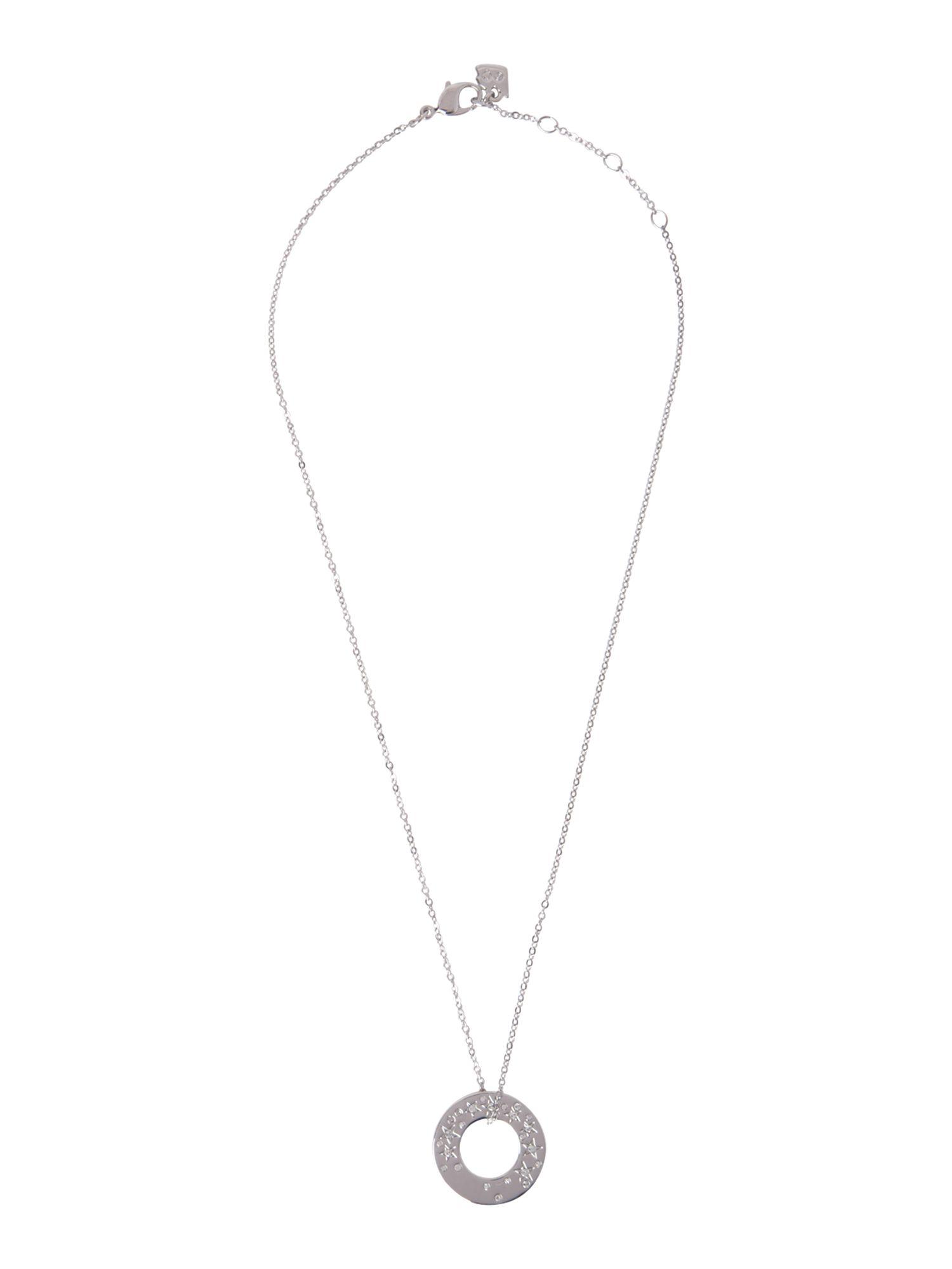 Swarovski Metropolis Crystal Star Oval Pendant in Silver (Metallic)