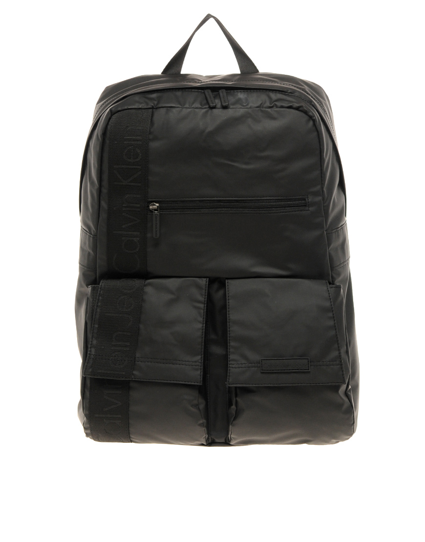 calvin klein backpack in black for men lyst. Black Bedroom Furniture Sets. Home Design Ideas