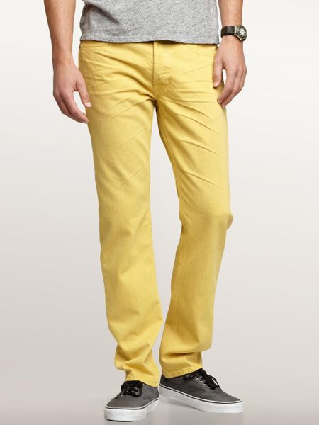 Gap Slim Fit Jeans in Yellow for Men