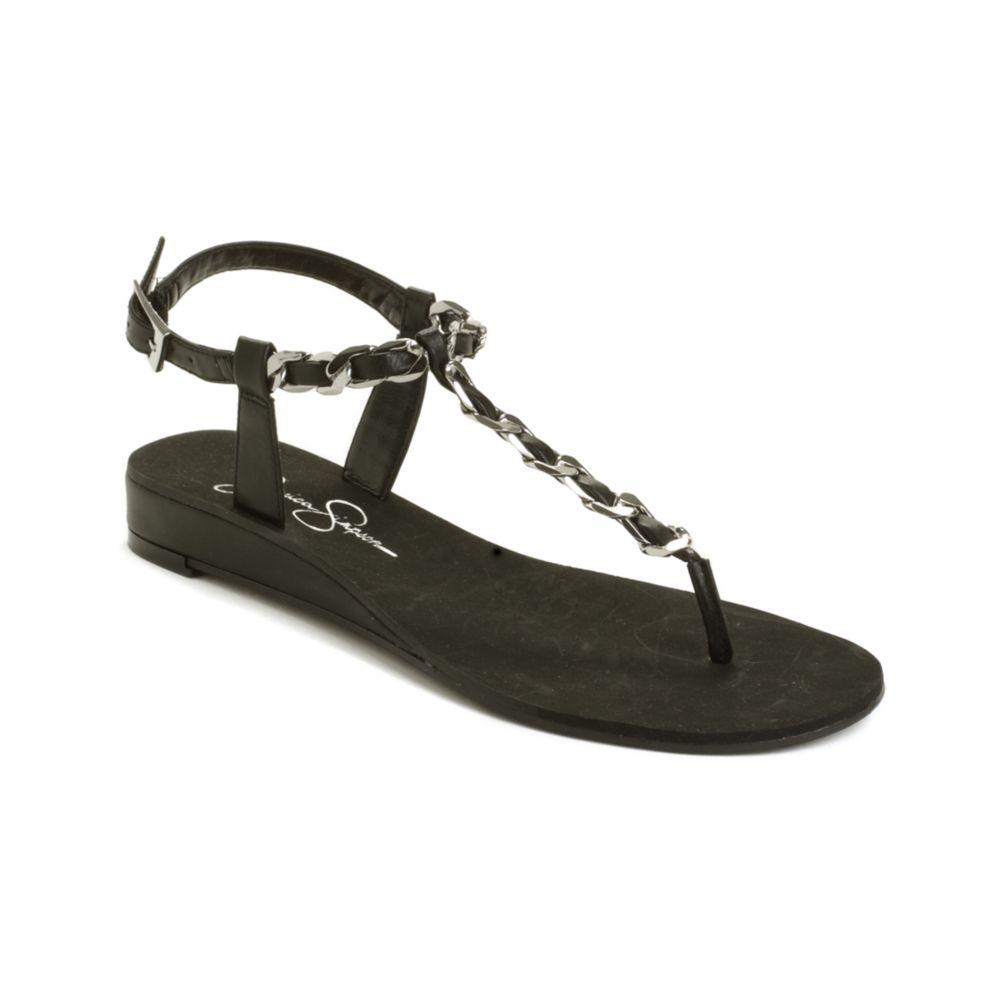 60730de5df0 Lyst - Jessica Simpson Joey Flat Sandals in Black