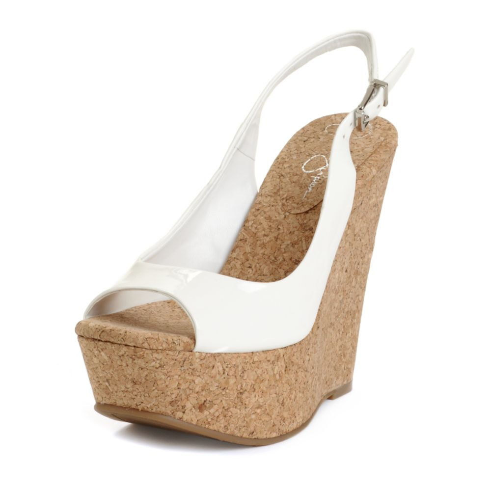 830646ad8f7 Jessica Simpson Amande Wedges in White - Lyst