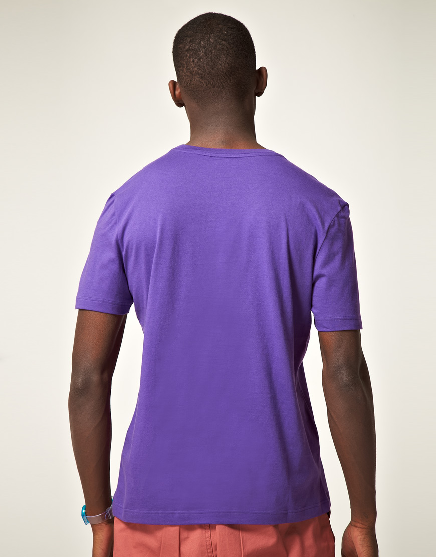 0d7fdf3a5fe81 Lyst - Lacoste L!ive Lacoste Live Slim Fit Printed Tshirt in Purple ...