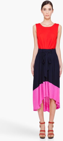 Marc By Marc Jacobs Phoebe Colorblock Jersey Dress - Lyst