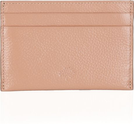 Mulberry Textured Leather Card Holder in Pink (blush)