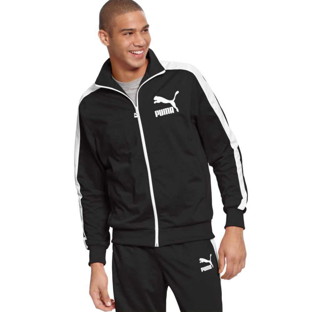 e8d64d0c40bf Lyst - PUMA Heroes T7 Track Jacket in Black for Men