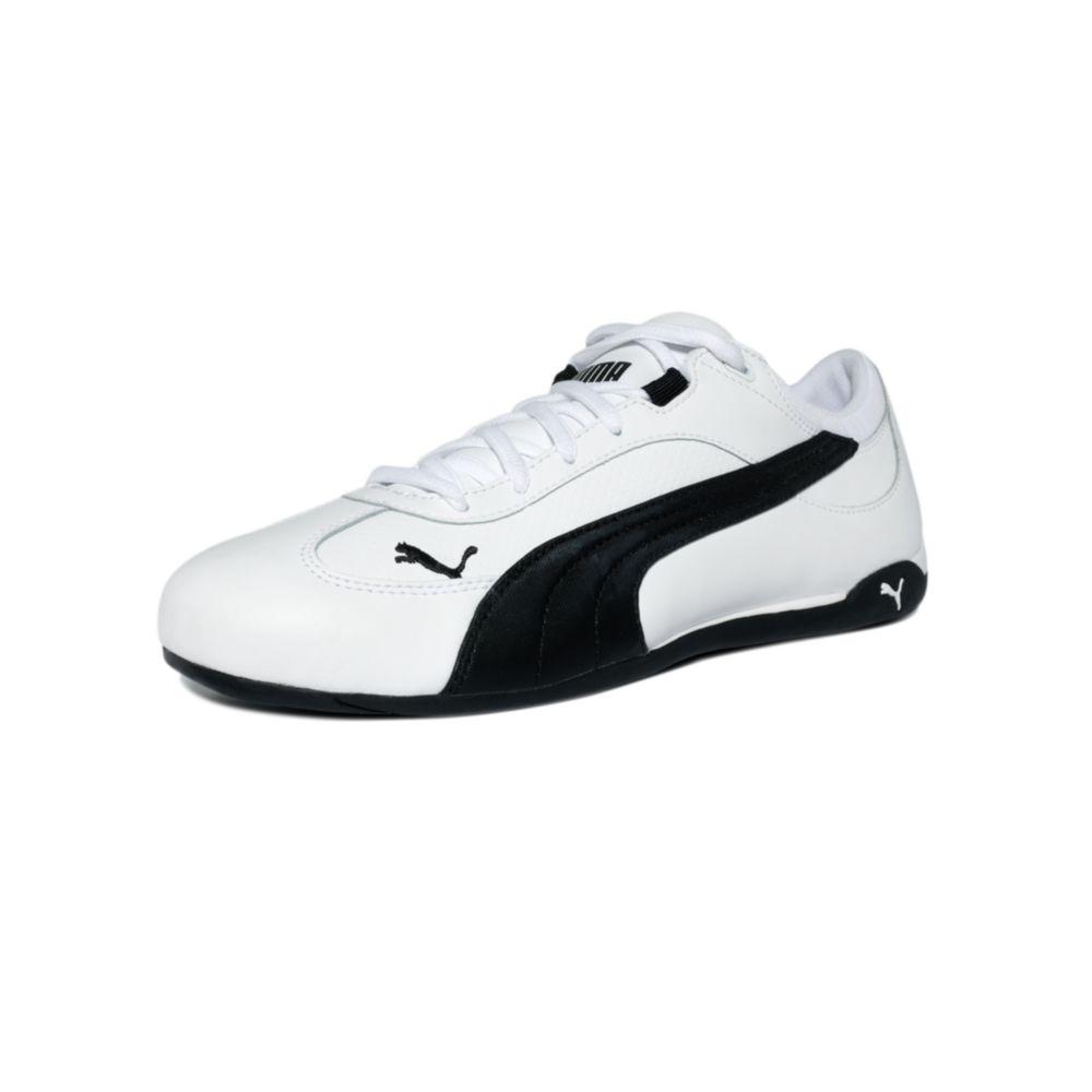 PUMA Fast Cat Sneakers in White/Black