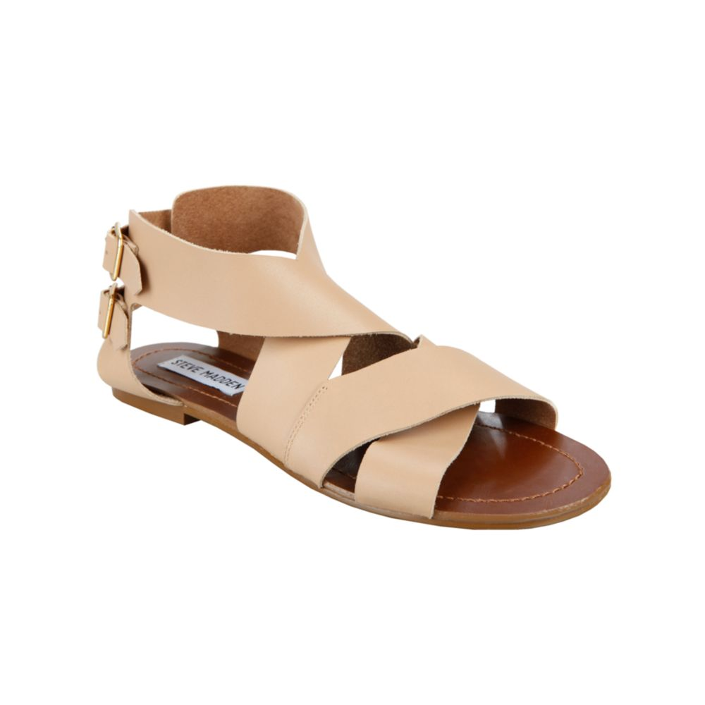 bf765b0dae32 Lyst - Steve Madden Achilees Flat Sandals in Natural